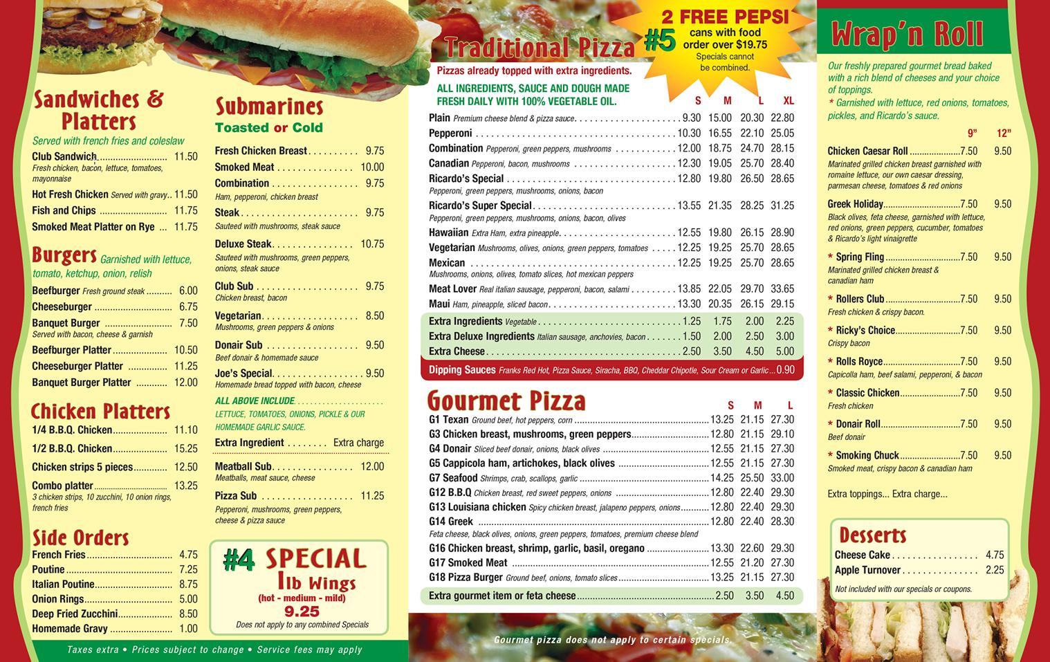 Fast Food Pizza Restaurants